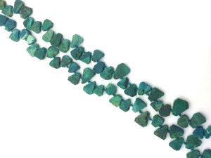 Chrysocolla Raw Gemstonne Flat Teardrop 6X8-12X16Mm