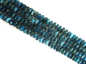 Apatite Faceted Roundel 6X12Mm