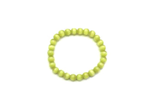 Artificial Opal Apple Green Bracelet 8Mm