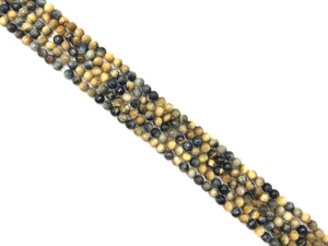 Gold Blue Tiger Eye Faceted Round Beads 10Mm