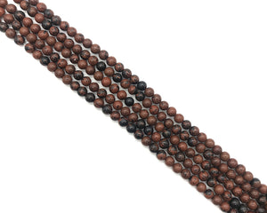 Mohogany Round Beads 6mm
