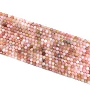 Pink opal Faceted Beads 5mm