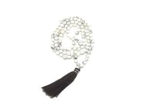 Howlite White Necklace 108Pcs 6Mm