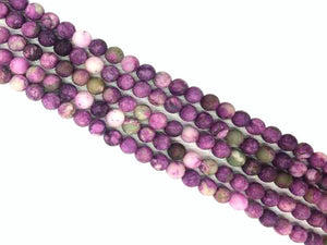 Matte Synthetic Chiorite Stone Round Beads 6Mm