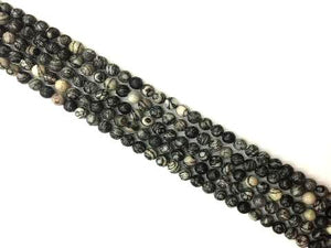 Black Picasso Jasper Round Beads 4Mm