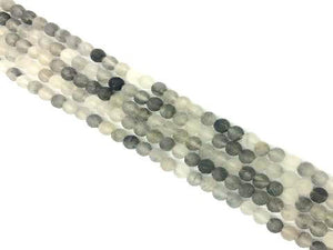 Matte Cloud Crystal Round Beads 6Mm
