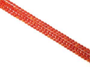 Bamboo Coral Orange Carved 6X9Mm