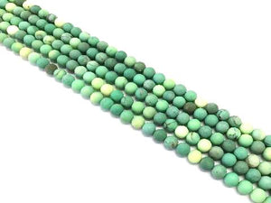 Matte  Green Grass Agate Round Beads 4Mm