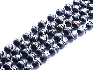 Fresh Water Pearl Set Auger Black Potato 11-12Mm