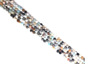 Black Coludy Amazonite Matte Star Cut 8mm