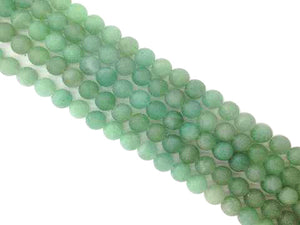 Matte Aventurine Green Round Beads 4Mm