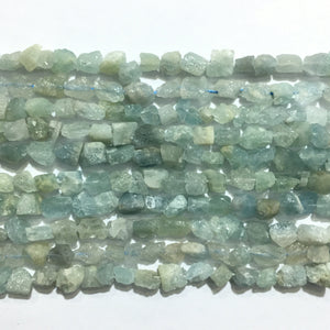 Aquamarine Raw Nugget 6X8-8X10mm