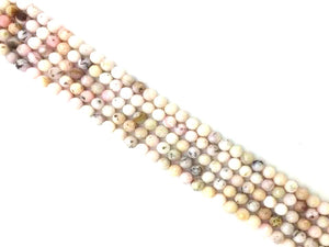 Pink Opal Faceted Rounds 18Mm
