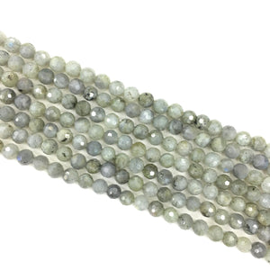 Labradorite Faceted Beads 8mm