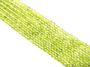 "Peridot Long(14""-16"") Round Beads 4.3Mm"