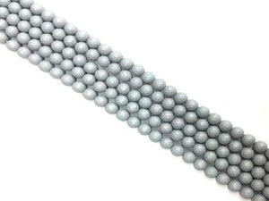 Matte Shell Pearl Gray Faceted Rounds 10Mm