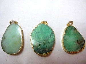 Chrysoprase A Gold Pendant 45-60Mm