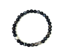 Black Sardonyx Bracelet 8Mm