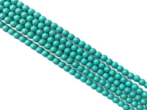 Resin Blue Magnesite Round Beads 6Mm
