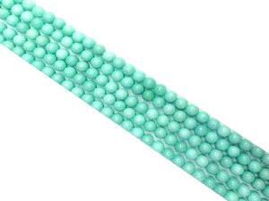 Color Jade Amazonite Round Beads 6Mm