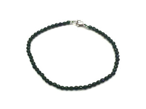 Green Goldstone Faceted Rounds Bracelet 3Mm