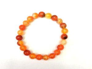 Color Agate Light Red Bracelet 8Mm