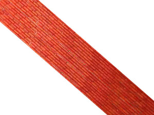 Bamboo Coral Orange Tube 4X8Mm