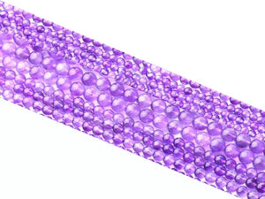 Amethyst G4 Light Color Round Beads 8Mm