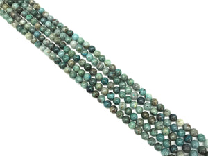 Chrysocolla G2 Round Beads  6Mm