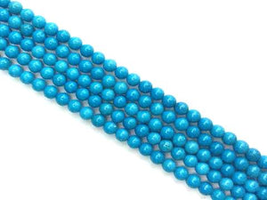 Stabilized Magnesite Blue Round Beads 4Mm