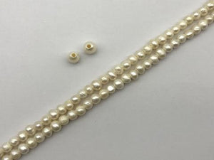 Fresh Water Pearl 8 Inch Big Hole Potato 5-6Mm