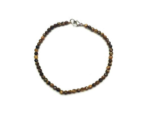 Tiger Eye Faceted Rounds Bracelet 3Mm