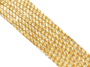 Citrine Super Precision Cut Faceted Round Beads 4Mm