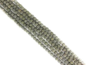 Lava Stone Ab Gray Round Beads 10Mm