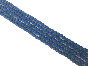 Lava Stone Royalblue Round Beads 18Mm