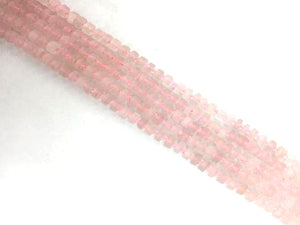 Matte Rose Quartz Heishi 3X8-5X8Mm