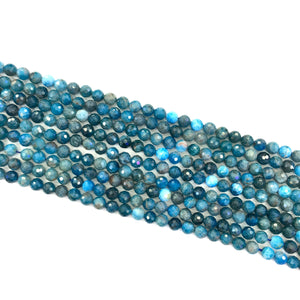 Apatite Faceted Beads 6mm