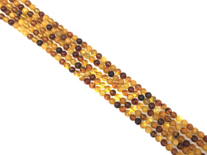 Baltic Amber Round Beads 4Mm