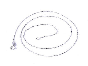 925 Sterling Silver Babysbreath Chain White K Necklace 18 Inch 0