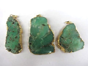 Chrysoprase Gold Pendant 40-60Mm