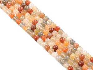 Multi Moonstone Round Beads 6Mm