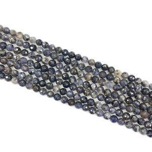 Iolite Faceted Beads 8mm