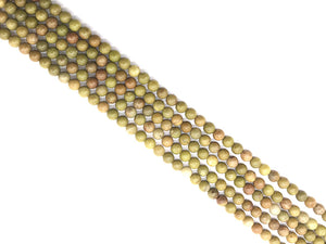 Aust Olive Opal Round Beads 6Mm