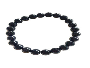 Blue Gold Stone Bracelet 6Mm