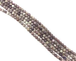 Lilac Stone Round Beads 6mm