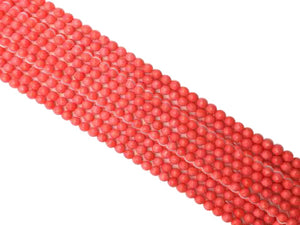 Bamboo Coral Pink Faceted Rounds 4Mm