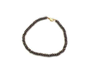 Hematite Brown Faceted Roundel Bracelet 2X3Mm
