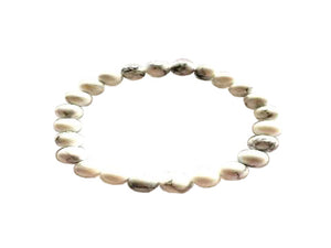Howlite White Bracelet 6Mm