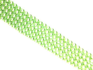 Shell Pearl Apple Green Round Beads 6Mm