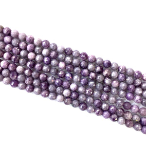 Lepidolite Faceted Beads 6mm